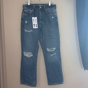 Forever 21 kick flare high waisted jeans